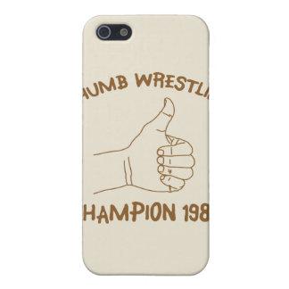 Cru 1984 de lutte de champion de pouce iPhone 5 case