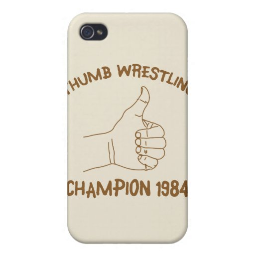 Cru 1984 de lutte de champion de pouce coques iPhone 4/4S