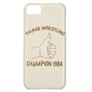 Cru 1984 de lutte de champion de pouce coque iPhone 5C