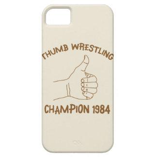 Cru 1984 de lutte de champion de pouce étuis iPhone 5