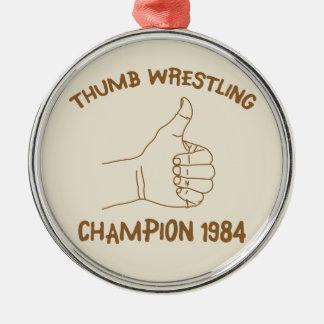 Cru 1984 de lutte de champion de pouce ornements