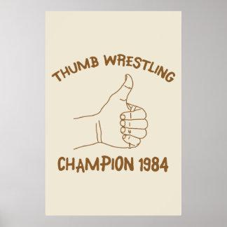 Cru 1984 de lutte de champion de pouce poster