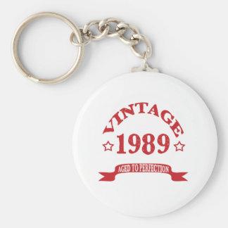 Cru 1989 âgé à Paerfection Porte-clé Rond