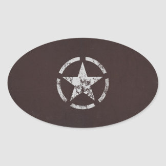 Cru blanc allié d étoile des USA Adhésif