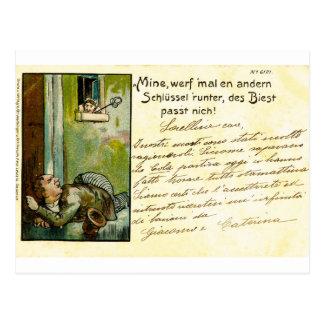 Cru, carte postale allemande tôt, 1900