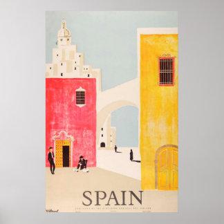 Cru d'affiche de voyage de l'Espagne Posters