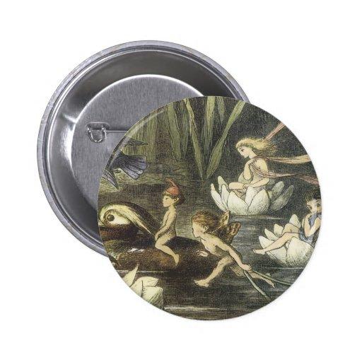 Cru dans le royaume des fées, 1870 fées et les nén badge avec épingle