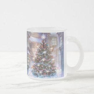 Cru d'arbre de Noël Mug En Verre Givré