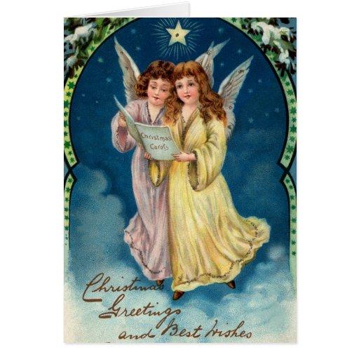 Cru de carte de Noël d'ange