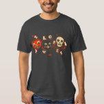 Cru de crâne de chat de citrouille de Halloween T-shirt