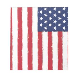 Cru de drapeau américain bloc-note
