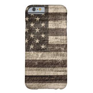 Cru de drapeau américain coque iPhone 6 barely there