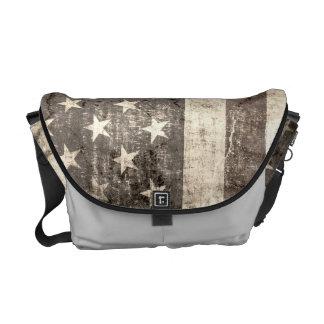 Cru de drapeau américain sacoche