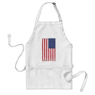 Cru de drapeau américain tablier