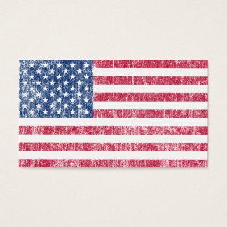 Cru de drapeau des Etats-Unis Cartes De Visite