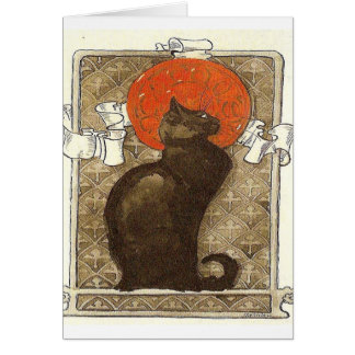 cru de Français de chat noir Carte De Vœux