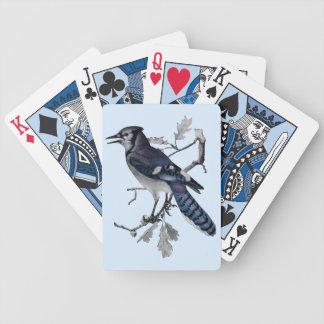 Cru de geai bleu coupé jeux de cartes