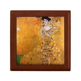 "Cru de Gustav Klimt ""Adele"" Petite Boîte À Bijoux Carrée"