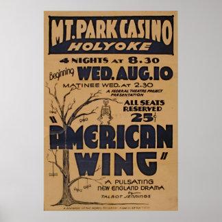 Cru de jeu de casino de parc de montagne du posters