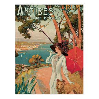 Cru de la France de d'Azur d'Antibes Côte Carte Postale