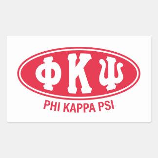 Cru de livre par pouce carré   de Kappa de phi Sticker Rectangulaire