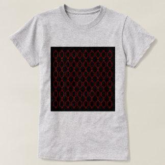 Cru de luxe du Maroc d'ethno : Rouge avec le noir T-shirt