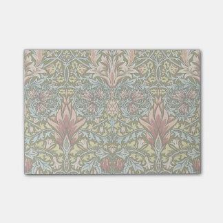 Cru de motif de papier peint floral de décorateur post-it®