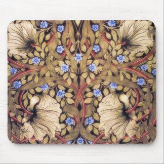 Cru de mouron de William Morris floral Tapis De Souris