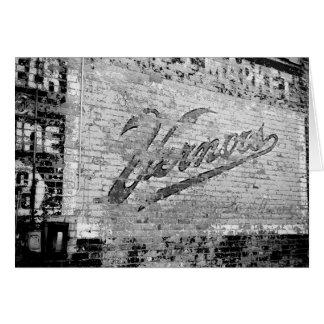 Cru de mur de briques d'Ann Arbor Michigan Vernor Carte De Vœux