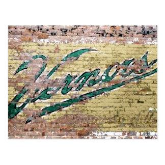 Cru de mur de briques d'Ann Arbor Michigan Vernor Cartes Postales