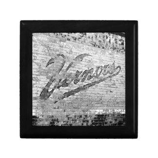 Cru de mur de briques d'Ann Arbor Michigan Vernor Petite Boîte À Bijoux Carrée