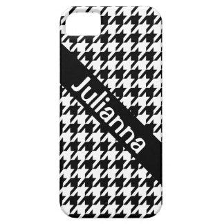 Cru de noir de pied-de-poule de StellaRoot Coques Case-Mate iPhone 5