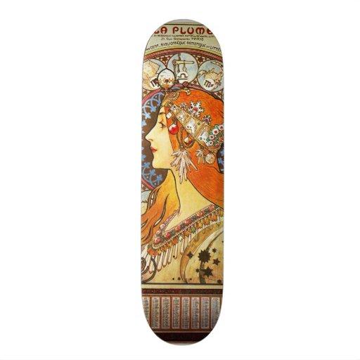 Cru de Nouveau d'art de zodiaque de plume de La d' Skateboard Customisable
