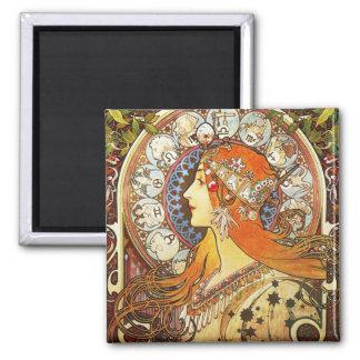 Cru de Nouveau d'art de zodiaque de plume de La Magnet Carré