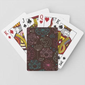 cru de papier peint de l'Inde de fleur de paon Cartes À Jouer