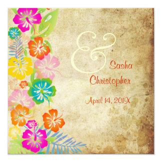 Cru de PixDezines/leis/luau/hibiscus Carton D'invitation 13,33 Cm