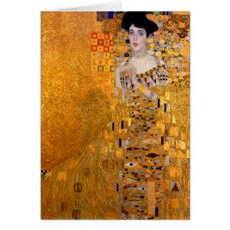 "Cru de portrait de Gustav Klimt ""Adele"" Carte De Vœux"