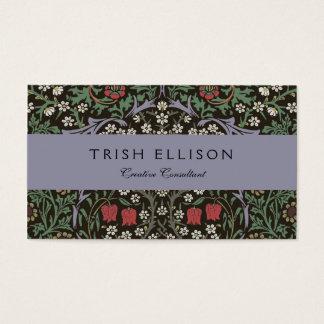 Cru de tapisserie de prunellier de William Morris Cartes De Visite