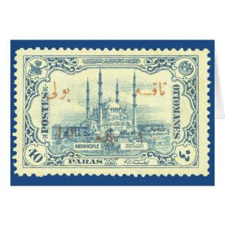 cru de timbre d'empire de tabouret de dinde - bleu carte de vœux
