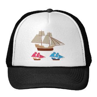 Cru de vecteur de bateau de voile casquette