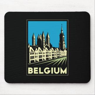 cru de voyage d art déco de la Belgique l Europe r Tapis De Souris