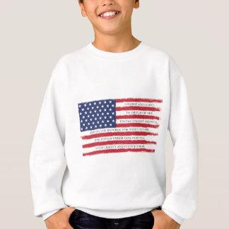 Cru d'engagement de drapeau américain sweatshirt