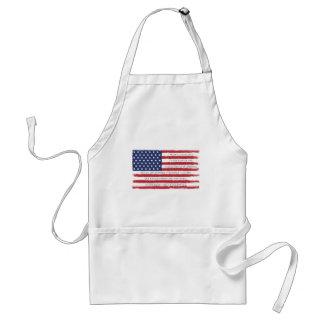 Cru d'engagement de drapeau américain tablier
