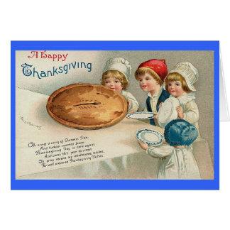 Cru d'image de tarte de bon thanksgiving cartes de vœux