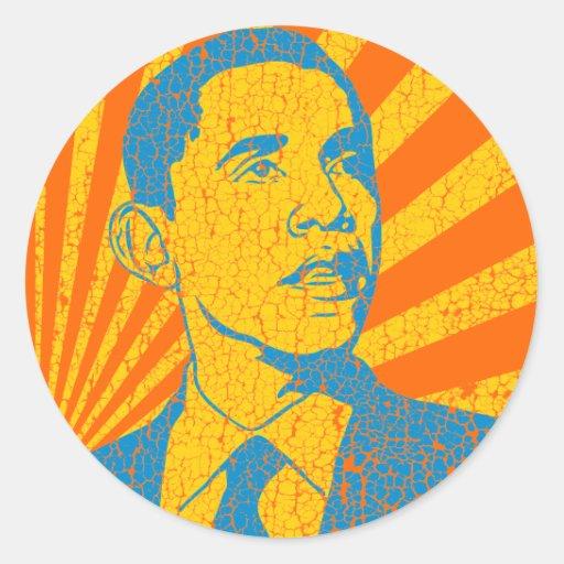 Cru d'Obama Adhésif Rond