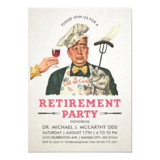 Cru drôle des invitations   de partie de retraite