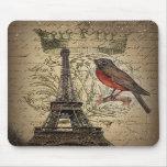 cru élégant de Paris de Tour Eiffel de merle de co Tapis De Souris