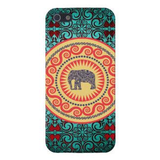 Cru élégant d'éléphant de damassé de Stellaroot Coque iPhone 5