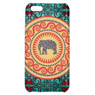 Cru élégant d'éléphant de damassé de Stellaroot Coques Pour iPhone 5C