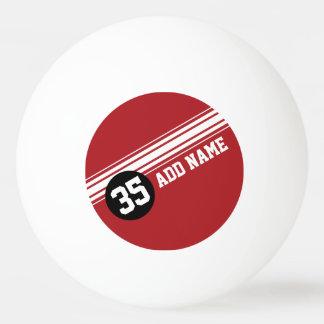Cru emballant des rayures - rouge et noir balle tennis de table
